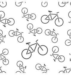 bike icon seamless pattern background icon vector image