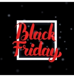 Black friday lettering with frame vector