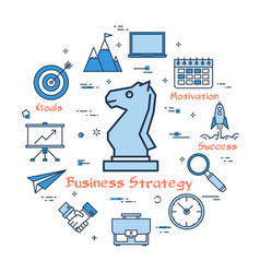 blue round business strategy concept vector image