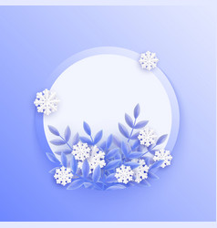 blue winter natural banner vector image