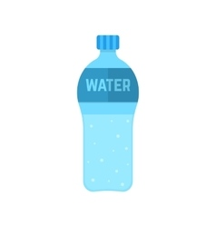 bottle of water isolated on white background vector image