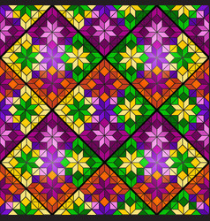 bright mosaic seamless pattern of multicolored vector image