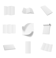 Business Office blank Mockups Set vector image