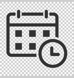 calendar agenda icon in flat style planner on vector image