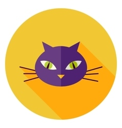 Cat Face Circle Icon vector image