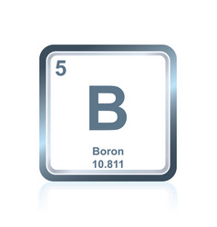 Chemical element boron from the periodic table vector
