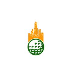 city golf logo icon design vector image