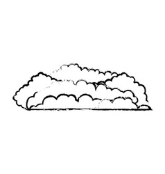 cloud cumulus blurred monochrome in white vector image