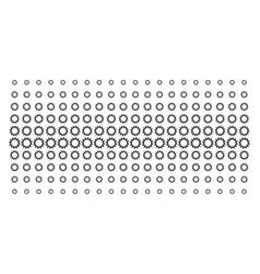 cogwheel shape halftone grid vector image
