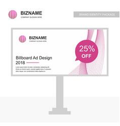 Company bill board with creative design vector