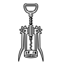 corkscrew object detailed vector image
