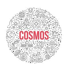 Cosmos Circle Concept vector image