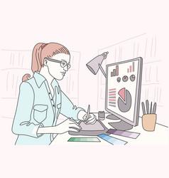 Designer artist doodle design vector