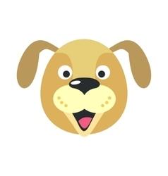 Dog Face in Flat Design vector