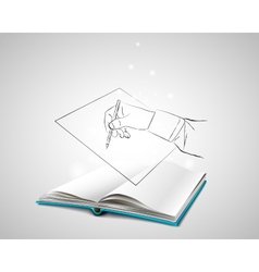 Doodle hand writes on a piece of paper vector