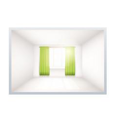 example of empty room with window vector image