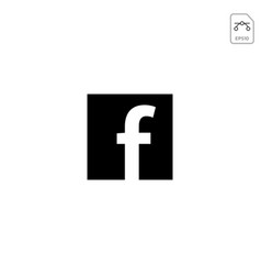 Facebook icon or logo symbol element isolated vector