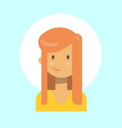 female emotion profile icon woman cartoon vector image
