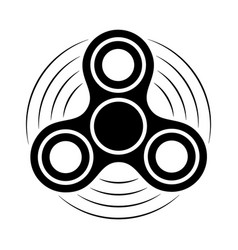 fidget spinner black and white icon hand rotation vector image