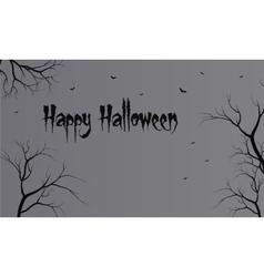 Flat backgrounds halloween dry tree vector