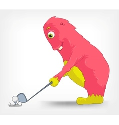 Funny Monster Golf vector image