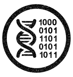 Genetical Code Rounded Grainy Icon vector image