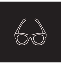Glasses sketch icon vector image