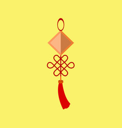 hanging chinese decoration graphic vector image