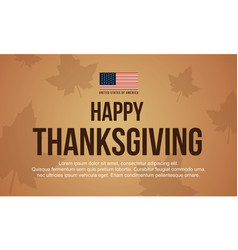 Happy thanksgiving greeting card with maple vector