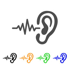 Hearing signal flat icon vector