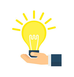 idea lamp in hand vector image