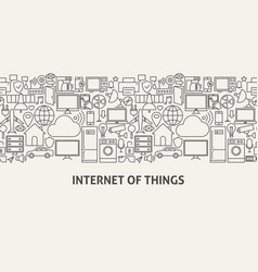 iot banner concept vector image