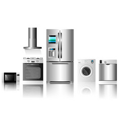 kitchen appliances2 vector image vector image
