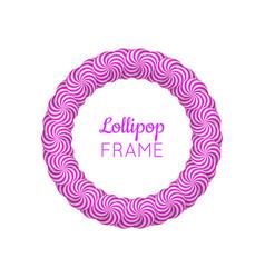 Lollipop round violet frame vector