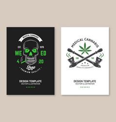 Medical cannabis shop poster flyer template vector