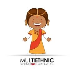 multi ethnic vector image
