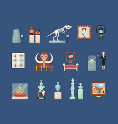museum historical large set guide with an ancient vector image
