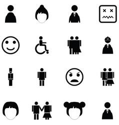 person icon set vector image