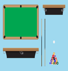 Pool table top side vector