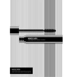 Poster cosmetic mascara with packaging vector
