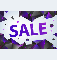 promo sale poster banner eometric facet vector image