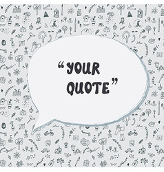 Quote card funny design with lifestyle pattern vector image