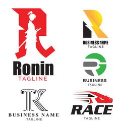 R letter based theme logo set volume 1 vector