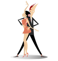 romantic dancing young couple vector image