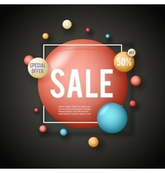 Sale advertising banner layout special big offer vector