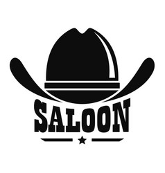 Saloon logo simple style vector