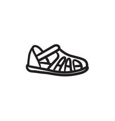 Sandal sketch icon vector