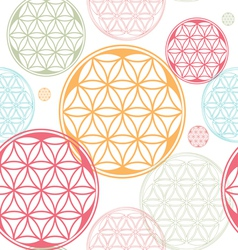 seamless flower of life seed theme vector image