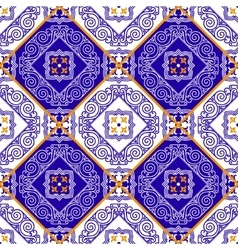 Seamless pattern from tiles vector image