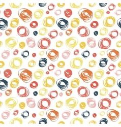 Seamless pattern with abstract doodle ornament vector image